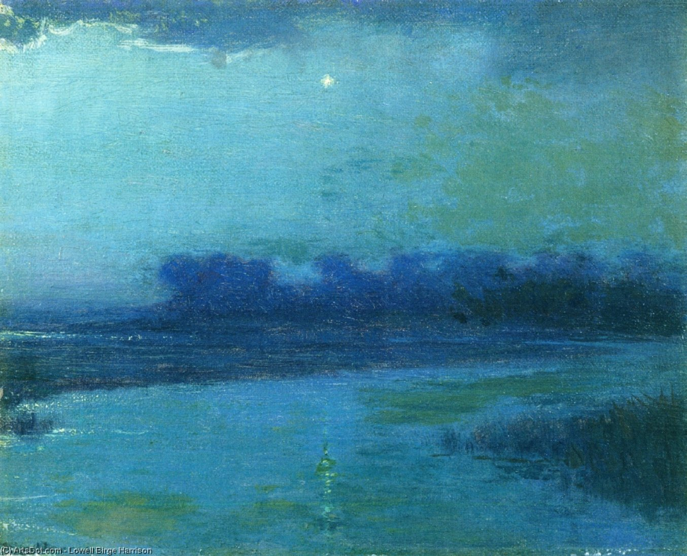 ザー 夕方 星 , 絵画 バイ Lowell Birge Harrison (1854-1929, United States)