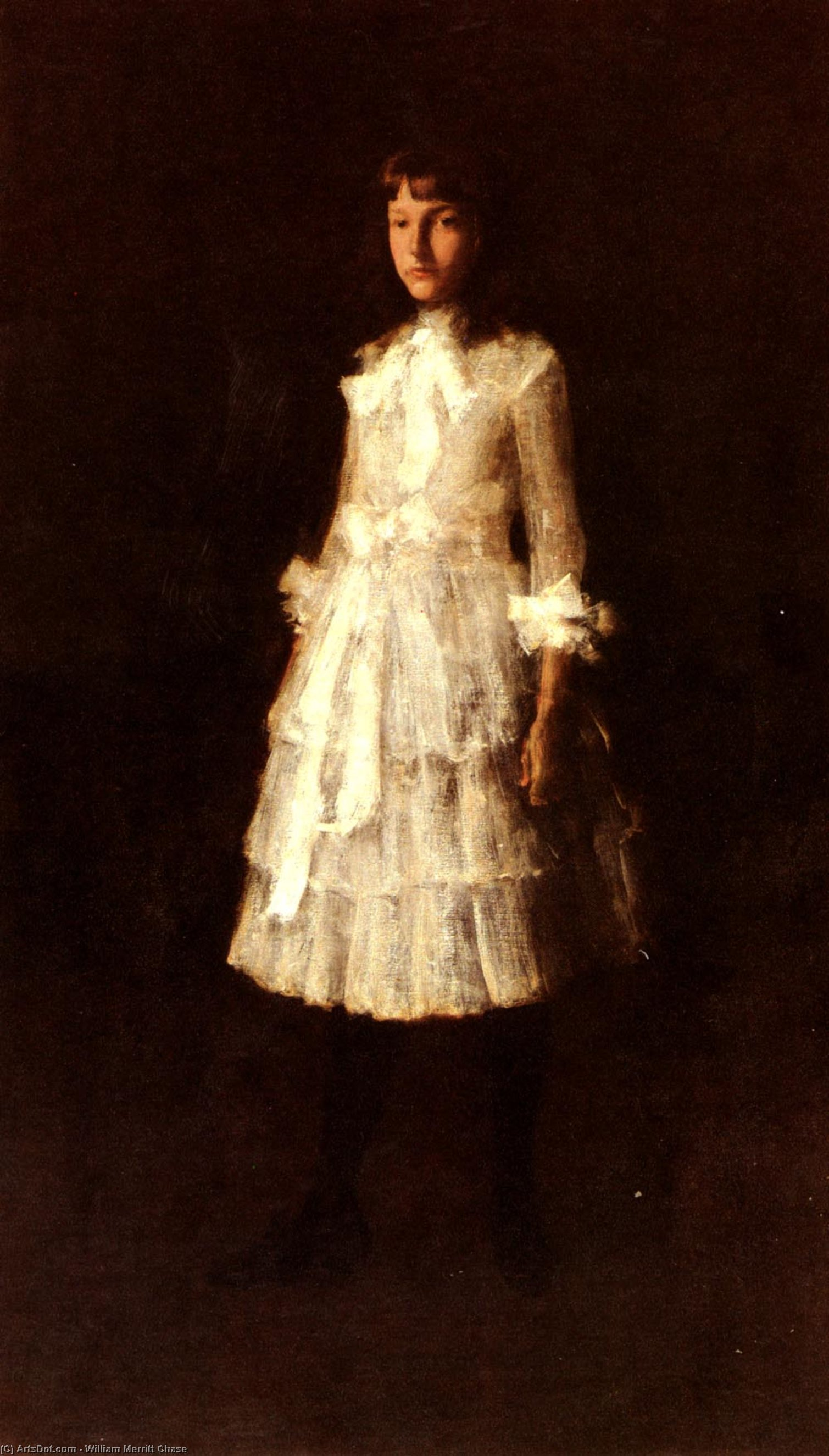 , キャンバス年石油 バイ William Merritt Chase (1849-1916, United States)