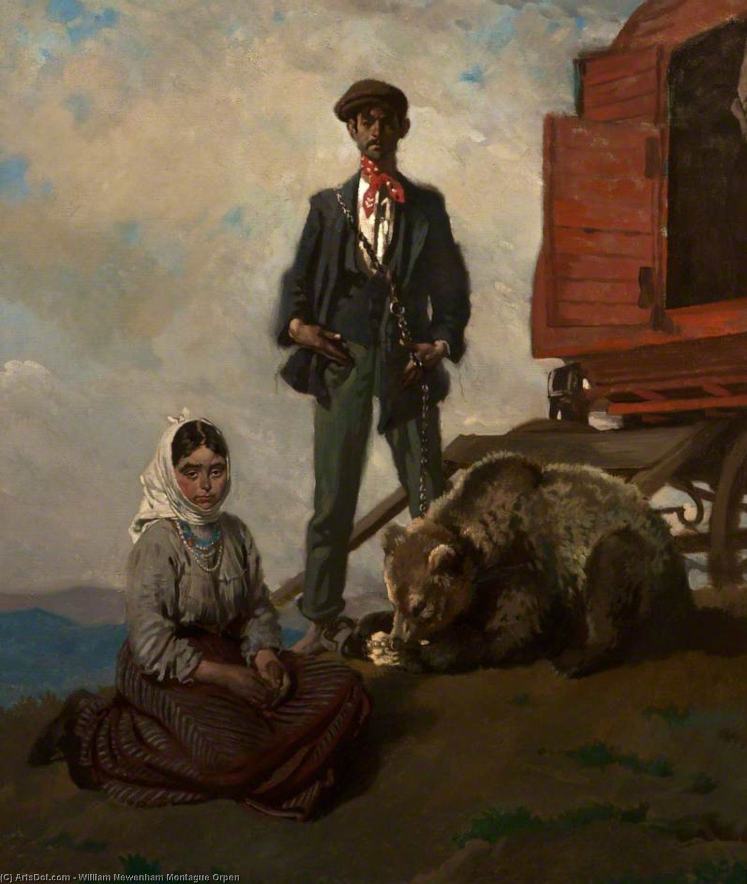 教会に ダブリン  山地  バイ William Newenham Montague Orpen (1878-1931, Ireland) | ArtsDot.com