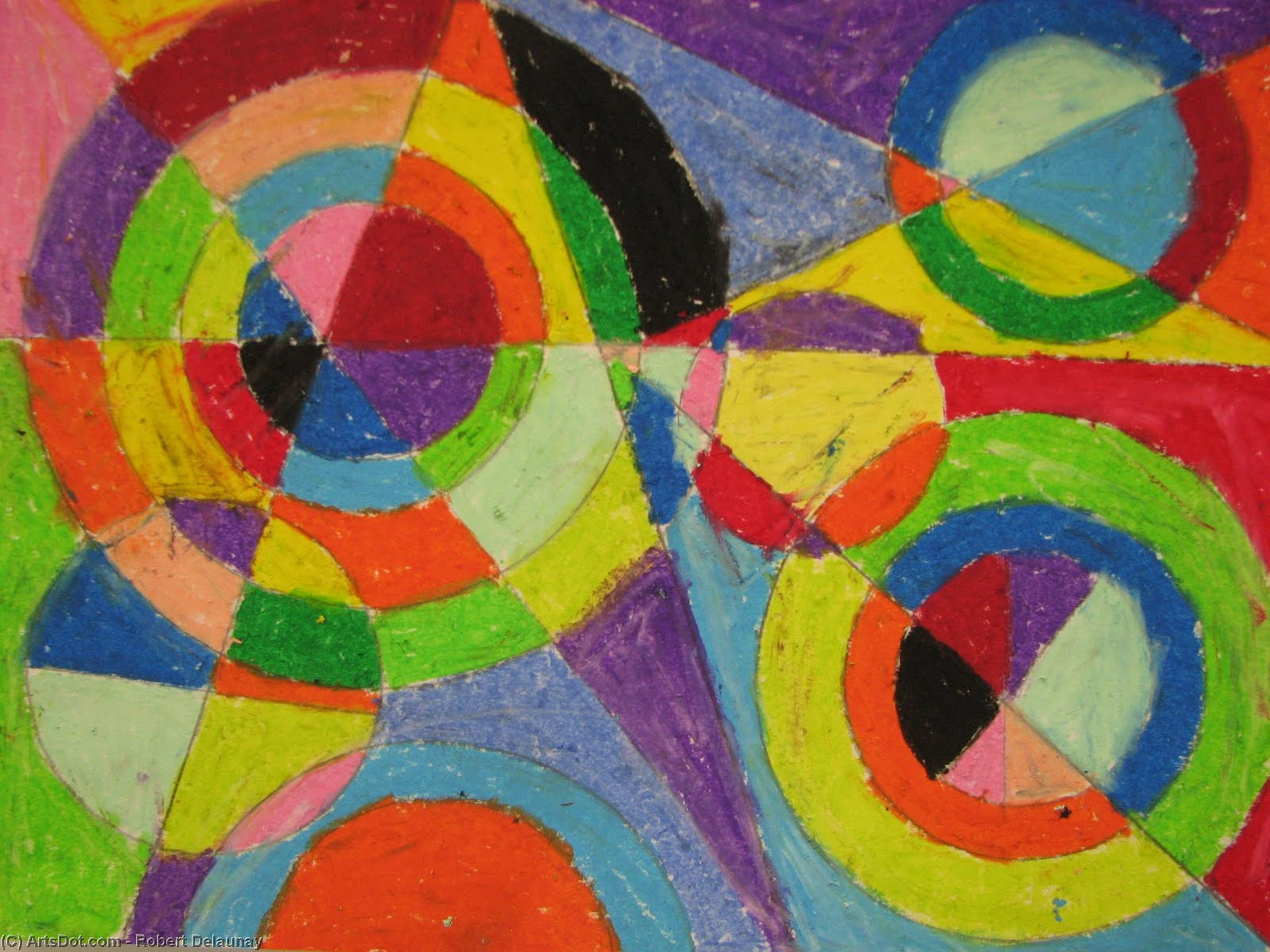 色 爆発  バイ Robert Delaunay (1885-1941, France)