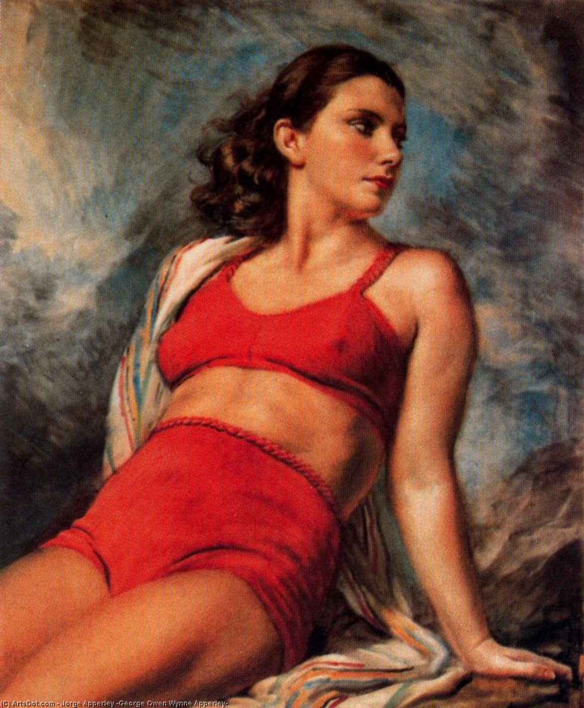 レッドジャージ バイ Jorge Apperley (George Owen Wynne Apperley) (1884-1960, United Kingdom) | 入りジクレー | ArtsDot.com
