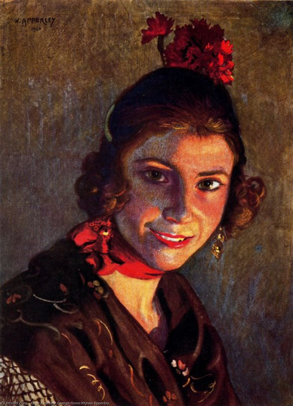 セビジャーナス バイ Jorge Apperley (George Owen Wynne Apperley) (1884-1960, United Kingdom)
