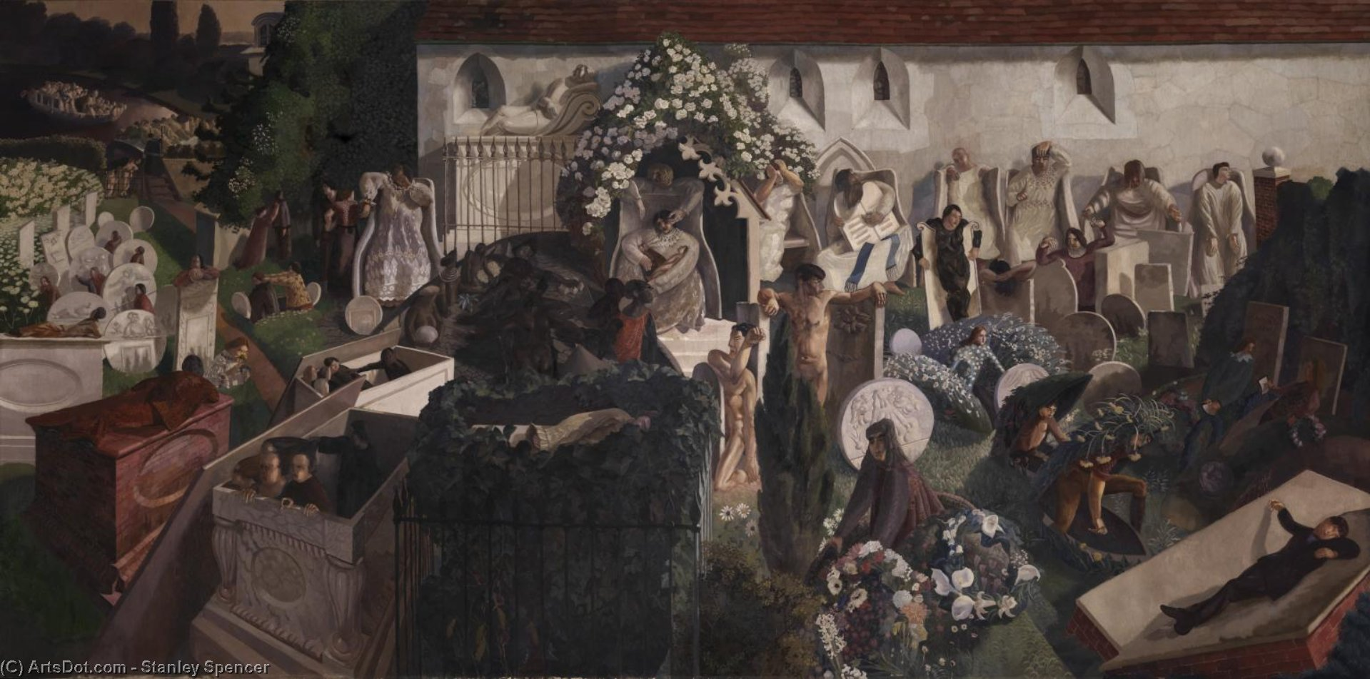 復活 クックハム  バイ Stanley Spencer (1891-1959, United Kingdom) | ArtsDot.com