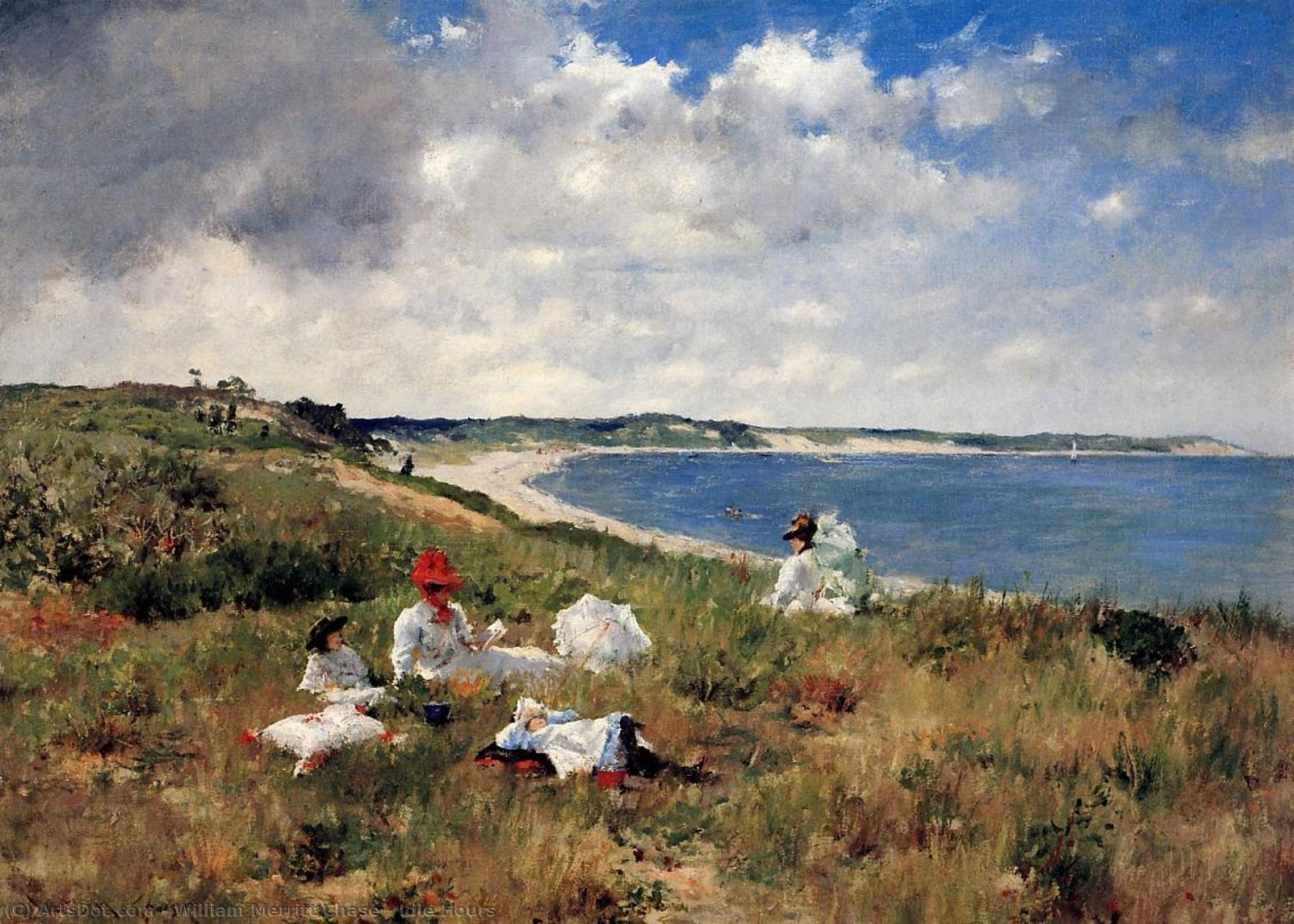 アイドル時間, 1894 バイ William Merritt Chase (1849-1916, United States) | 油絵 William Merritt Chase | ArtsDot.com