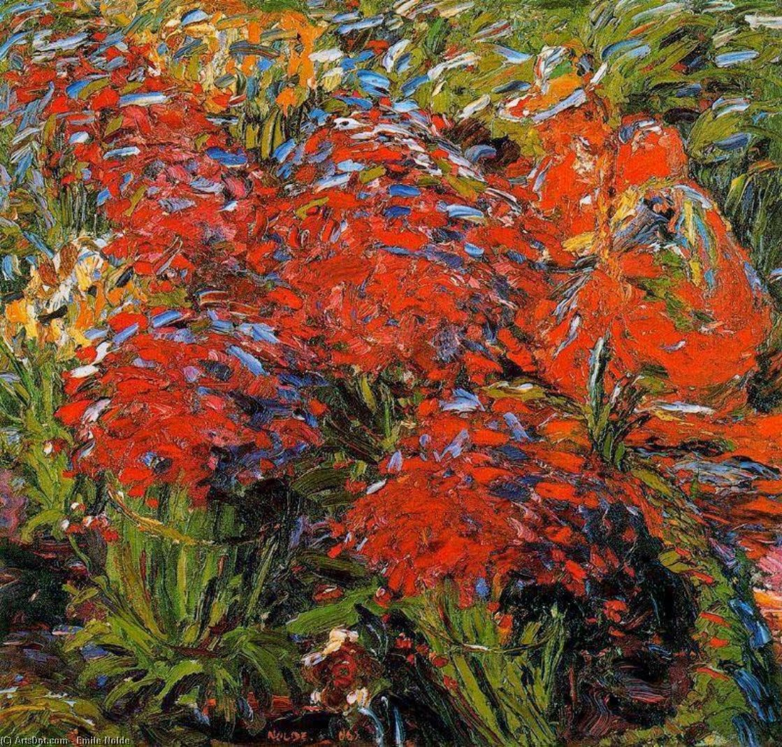 庭 パス バイ Emile Nolde (1867-1956, Germany)