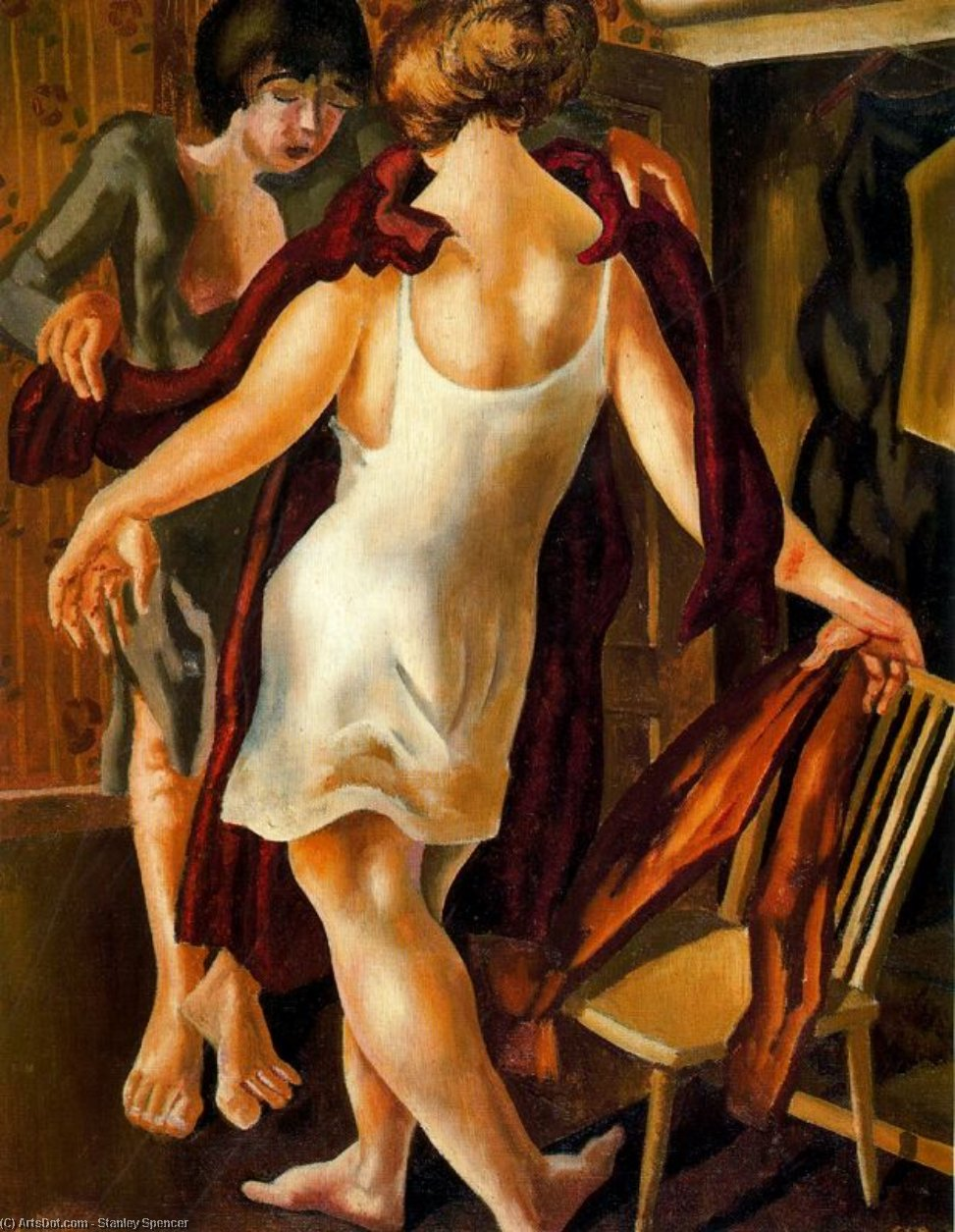 ドレスを選びます バイ Stanley Spencer (1891-1959, United Kingdom) | ArtsDot.com