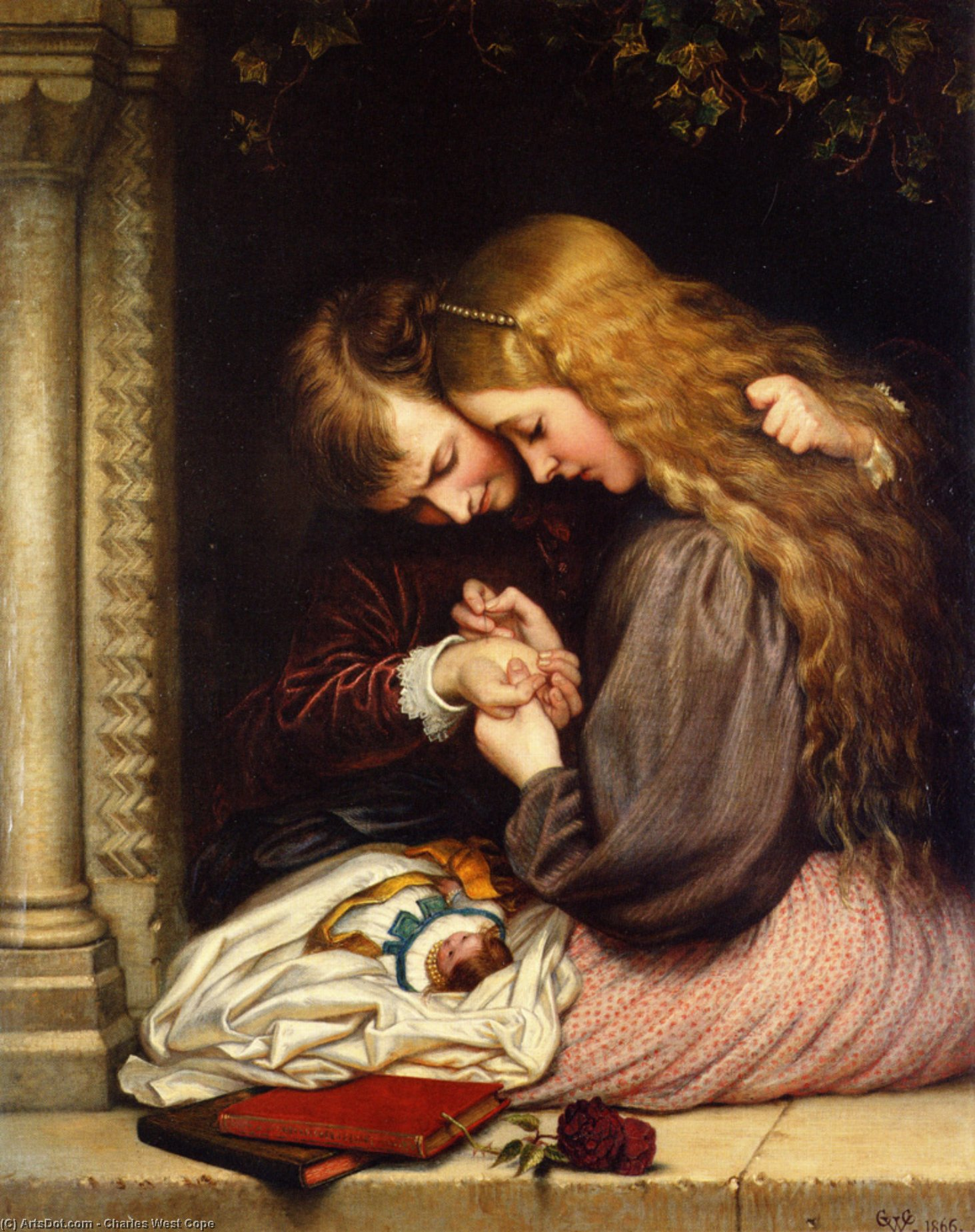 ザー ソーン , 1866 バイ Charles West Cope (1811-1890, United Kingdom) | ArtsDot.com