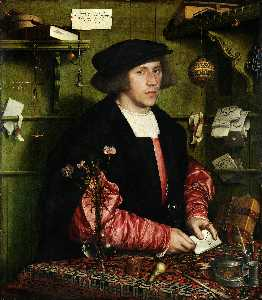 Hans Holbein The Younger - 商人ゲオルク・ギゼの肖像