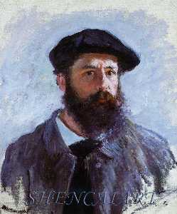 Claude Monet - Self-Portrait ととも​​に ベレー