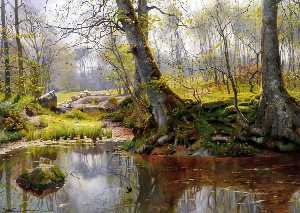 Peder Mork Monsted - 静かな池