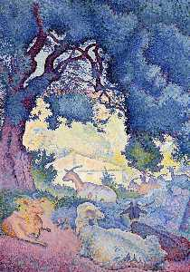 Henri Edmond Cross - ヤギ