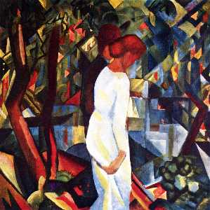 August Macke - Couple in 森