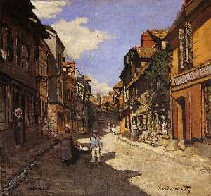 Claude Monet - The La Rue Bavolle オンフルールで 2