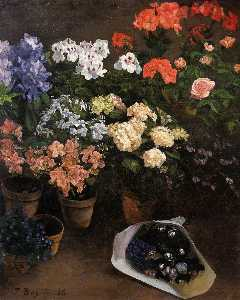 Jean Frederic Bazille - の研究 花