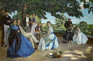 Jean Frederic Bazille - 家族の再会