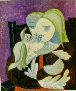 Pablo Picasso - 母 と 子供 ( Marie-Therese そし..