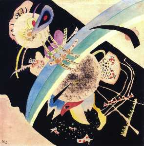 Wassily Kandinsky - 以下のための研究 --Circles オン Black--