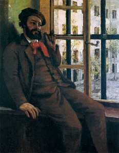 Gustave Courbet - Self-Portrait で Sainte-Pé..
