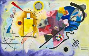 Wassily Kandinsky - Yellow-Red-Blue , キャンバスに油彩 , ミュゼ 国家