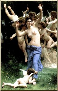 William Adolphe Bouguereau - 侵入 Cupid-s レルム