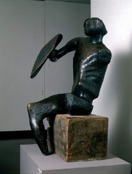戦士, オイル バイ Henry Moore (1898-1986, United Kingdom)