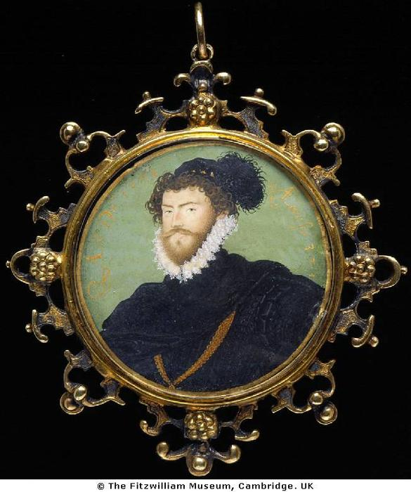 不明の 男 2  , 原油 バイ Nicholas Hilliard (1577-1619, United Kingdom)