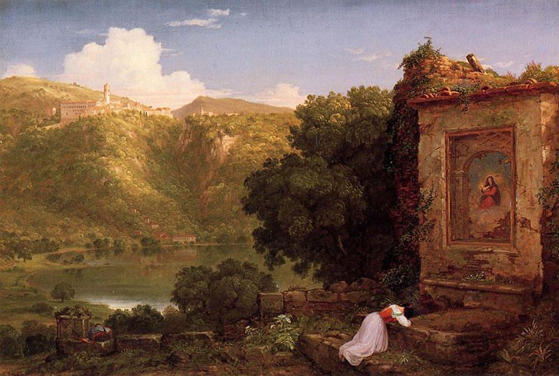 イルPenseroso, オイル バイ Thomas Cole (1801-1848, United Kingdom)