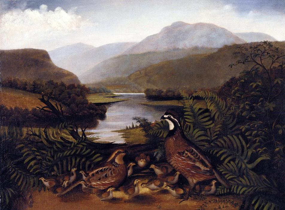 partridges` には 風景, キャンバスに油絵 バイ Rubens Peale (1784-1865, United States)