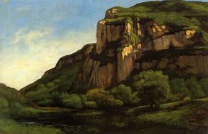 Gustave Courbet - 岩 mouthierで