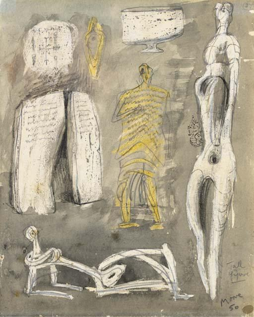 トール図, 描画 バイ Henry Moore (1898-1986, United Kingdom)