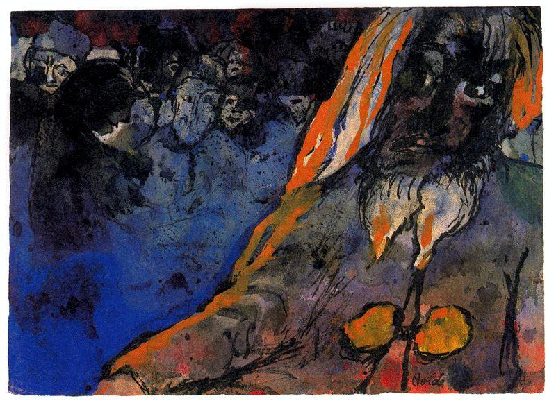 山 巨人  バイ Emile Nolde (1867-1956, Germany)