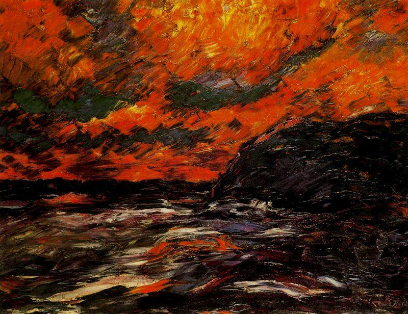 秋IXの海 バイ Emile Nolde (1867-1956, Germany)