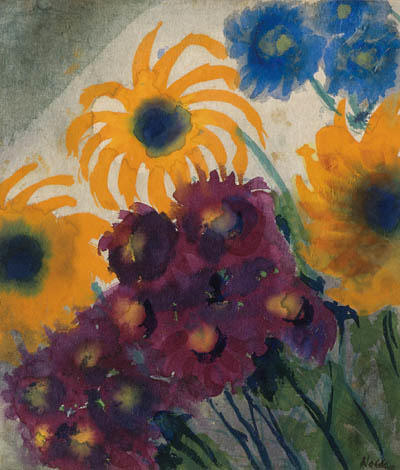 夏 花 2   バイ Emile Nolde (1867-1956, Germany)