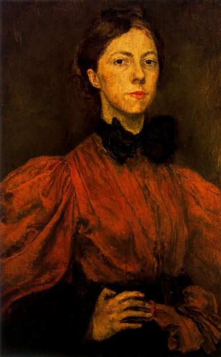Self-portrait 1 バイ Gwen John (1876-1939, United States)