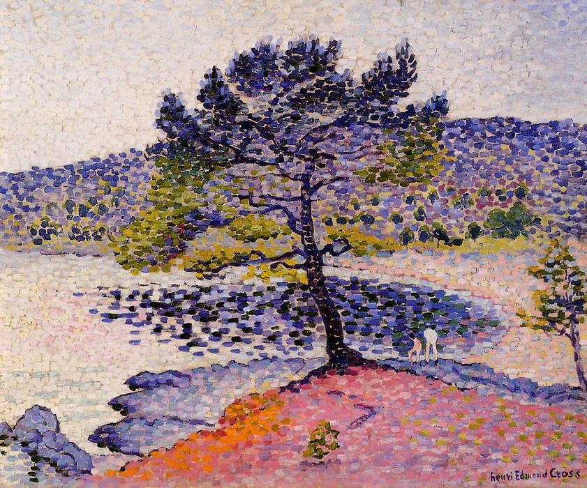 ザー ビーチ, 夕方 バイ Henri Edmond Cross (1856-1910, France)