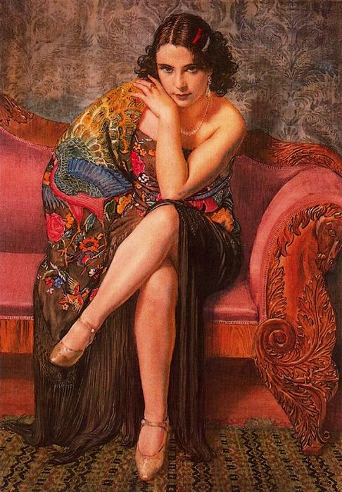 マニラショール(ピーコック) バイ Jorge Apperley (George Owen Wynne Apperley) (1884-1960, United Kingdom)