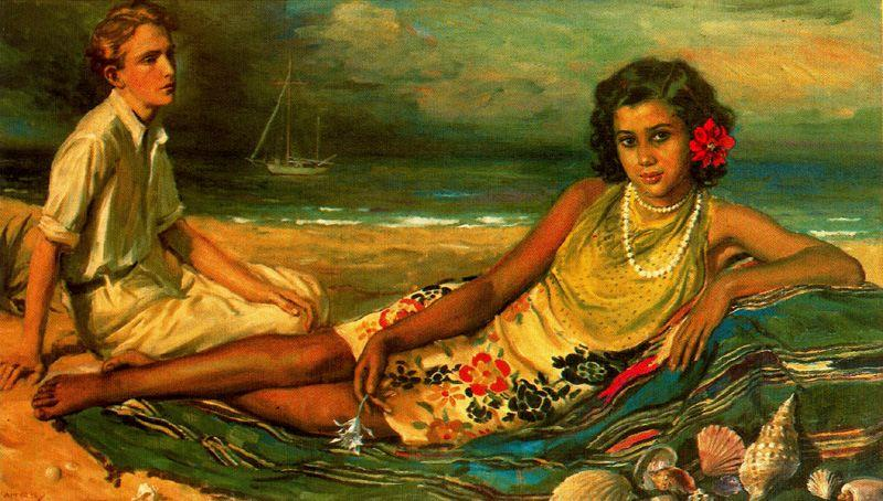 海牧歌(タヒチ) バイ Jorge Apperley (George Owen Wynne Apperley) (1884-1960, United Kingdom)