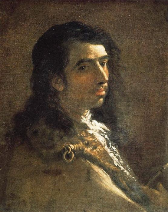 Self-portrait 1 バイ Luca Giordano (1634-1705, Italy)