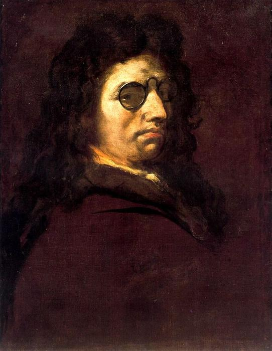 Self-portrait 3 バイ Luca Giordano (1634-1705, Italy)
