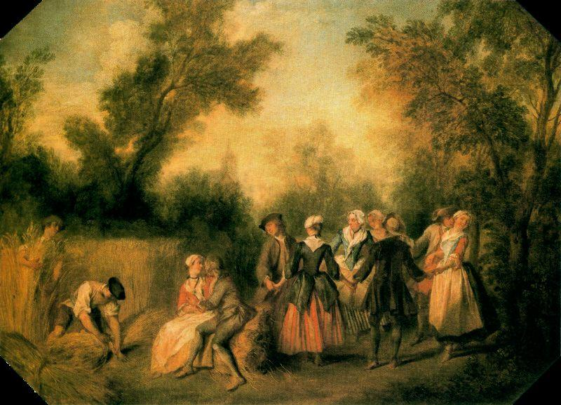 VERANO バイ Nicolas Lancret (1690-1743, France)