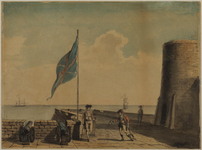 Naval post 三付き 兵士 バイ Paul Sandby (1798-1863, United Kingdom)