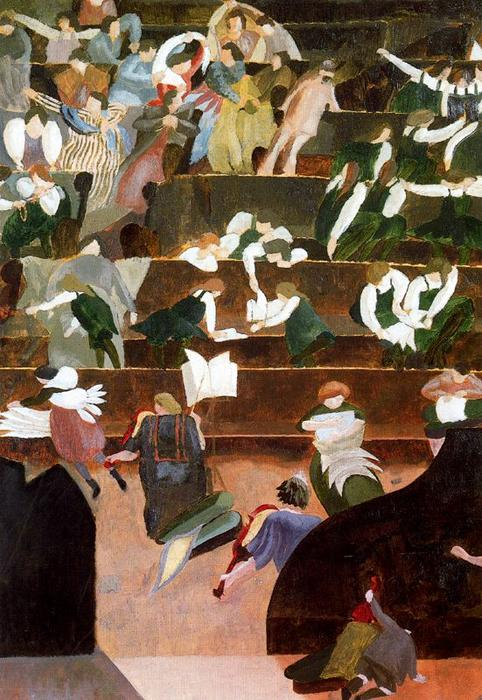 Bedalesで音楽レッスン バイ Stanley Spencer (1891-1959, United Kingdom)