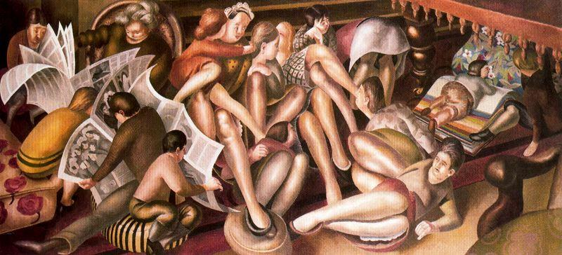 カナのブライド バイ Stanley Spencer (1891-1959, United Kingdom)