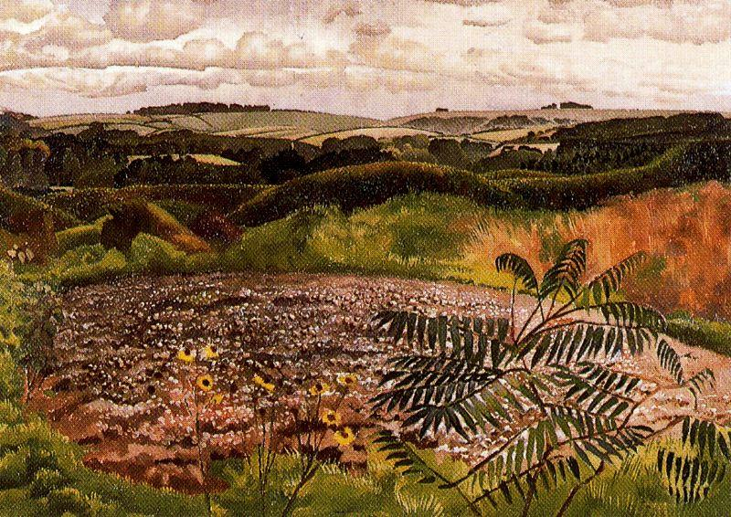 風景。 Burghclere バイ Stanley Spencer (1891-1959, United Kingdom)