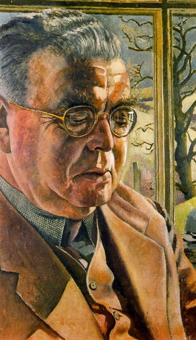 の肖像画 j.l. `behrend` バイ Stanley Spencer (1891-1959, United Kingdom)