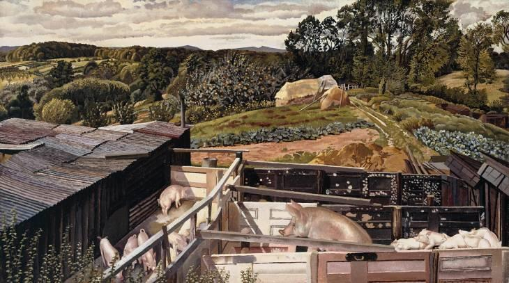 リケットのファーム、Cookhamデーン バイ Stanley Spencer (1891-1959, United Kingdom) | ArtsDot.com