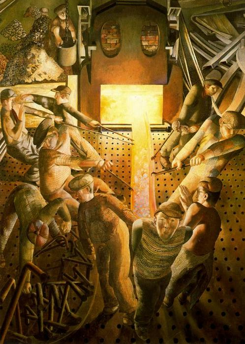 クライドの造船。ストーブ バイ Stanley Spencer (1891-1959, United Kingdom) | ArtsDot.com