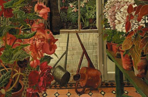 ザー 温室 バイ Stanley Spencer (1891-1959, United Kingdom)