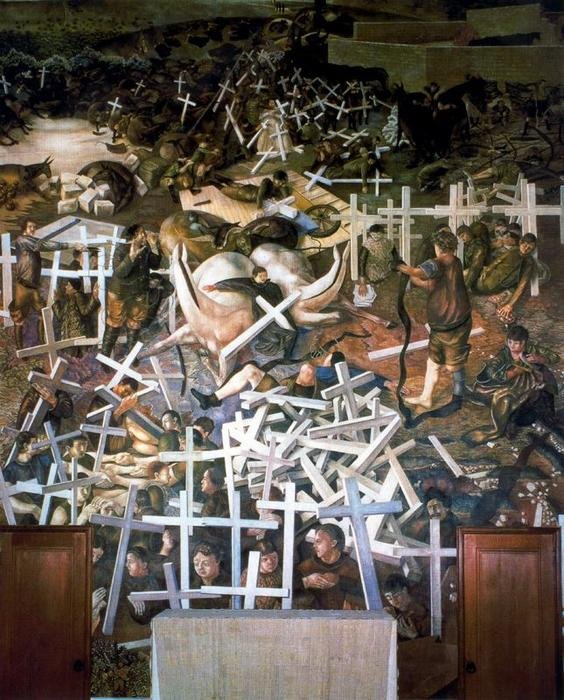 ザー 復活 の 兵士 バイ Stanley Spencer (1891-1959, United Kingdom) | ArtsDot.com
