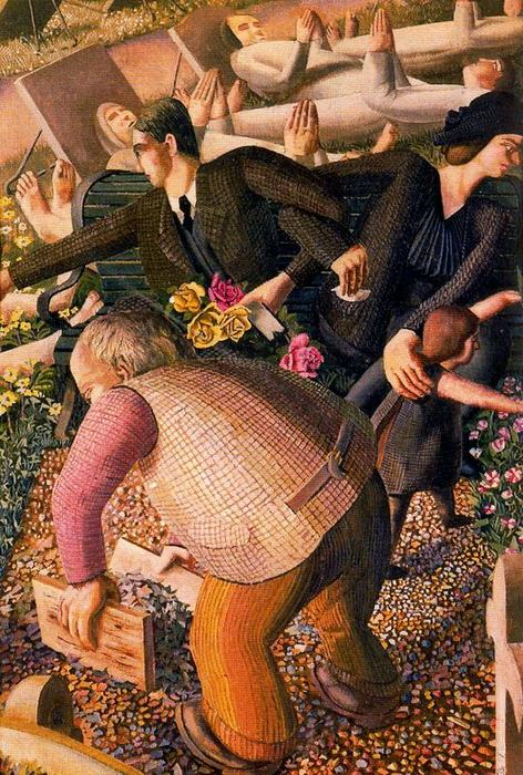 復活。目覚める1 バイ Stanley Spencer (1891-1959, United Kingdom)